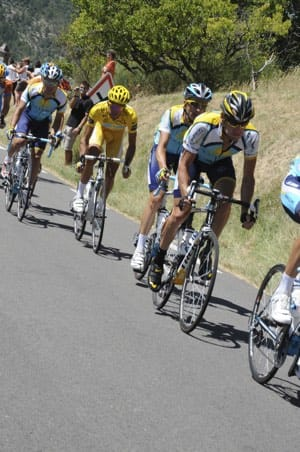 Tour de France 2009 Armstrong and Contador