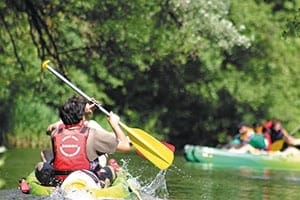 Canoeing on the river La Sorgue