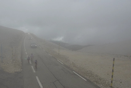 mont ventoux in the clouds