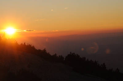 Sunset on the Mont Ventoux